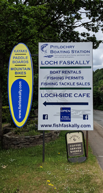 Pitlochry Boating Station Sign Photo